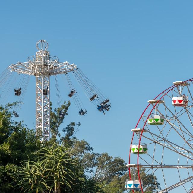 """""""Funfair rides"""" stock image"""