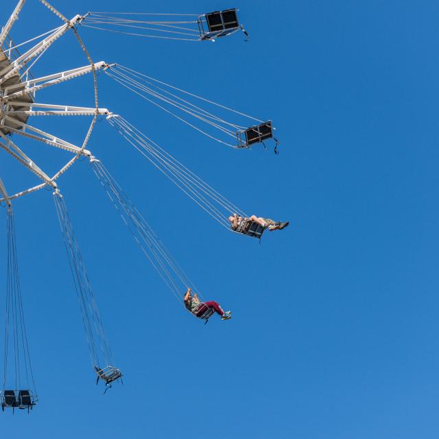 """""""Swing at funfair"""" stock image"""