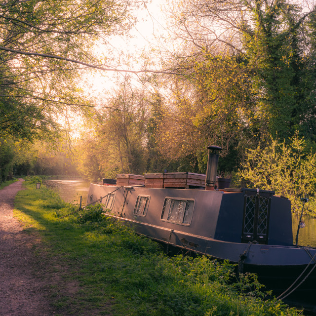 """River Kennet Sunset"" stock image"