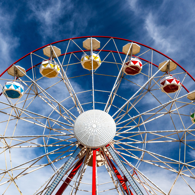 """""""Ferris wheel with clouds"""" stock image"""