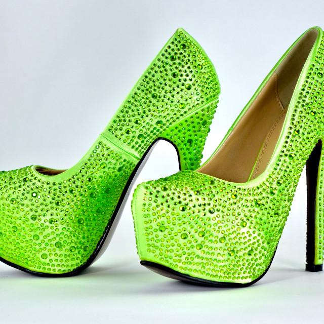 """Green Crystal Stilettos"" stock image"