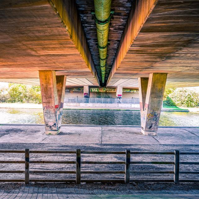 """Symmetry under Slip Road."" stock image"