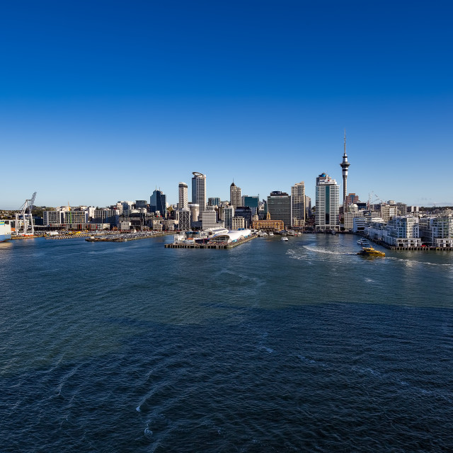 """City of Auckland Panorama"" stock image"