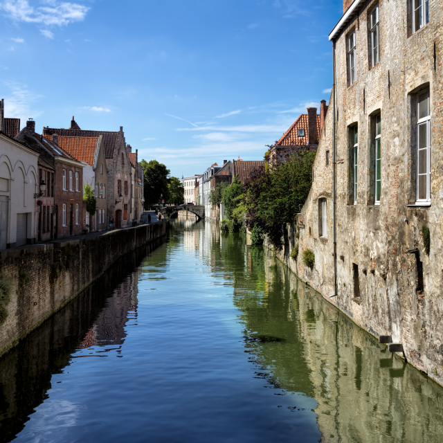 """City of Bruges Canal and Buildings"" stock image"