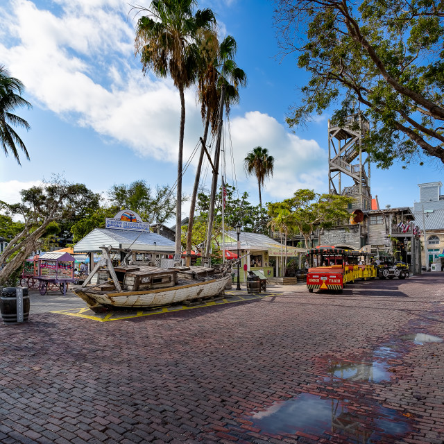 """Old Ship & Street Key West Florida"" stock image"