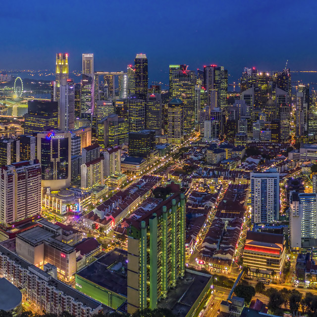 """""""Singapore Cityscape from Pearl Bank"""" stock image"""