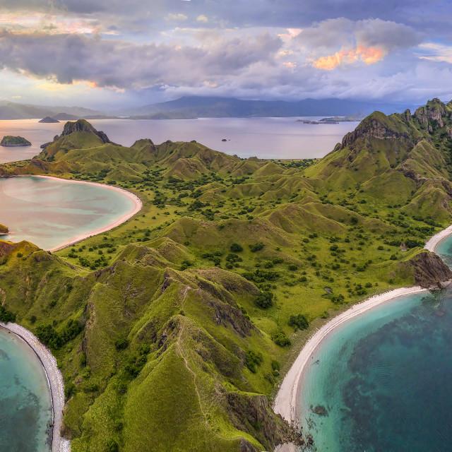 """Padar Island Aerial View"" stock image"