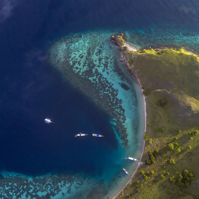 """Aerial view from Gililawa Island 02"" stock image"