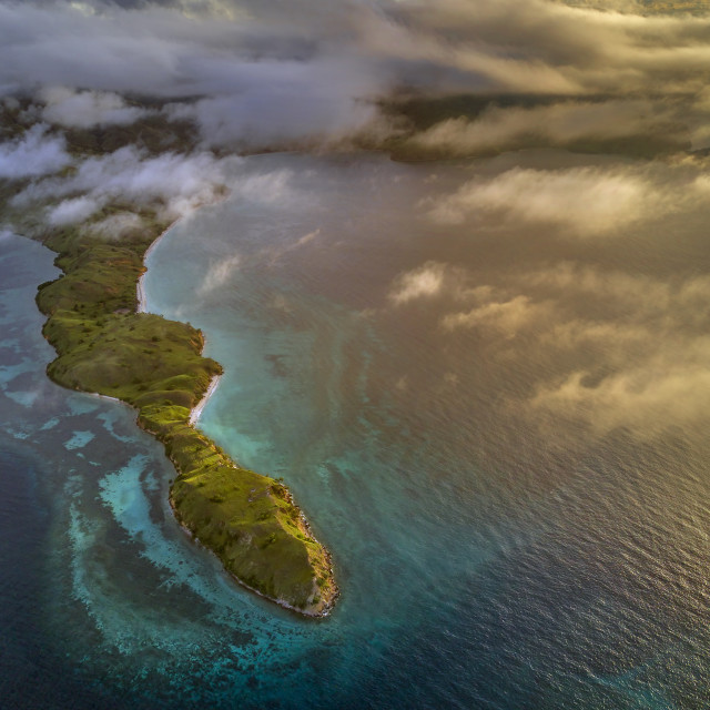 """Aerial view from Gililawa Island 03"" stock image"