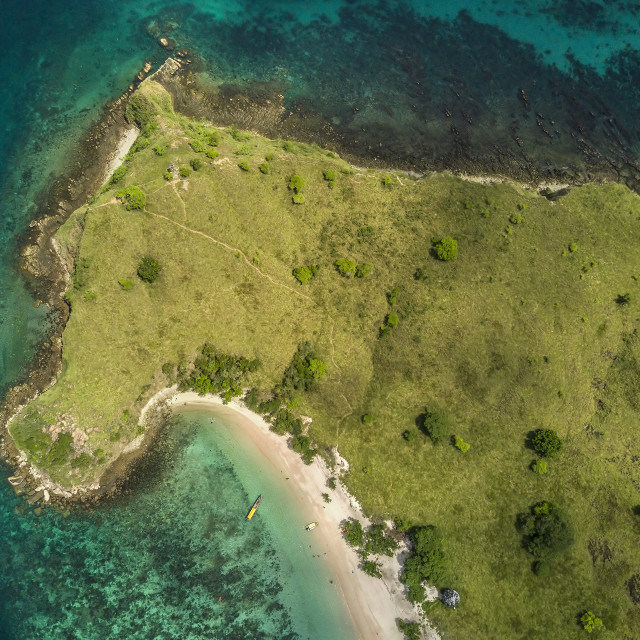 """Aerial view of island in Komodo National Park 01"" stock image"