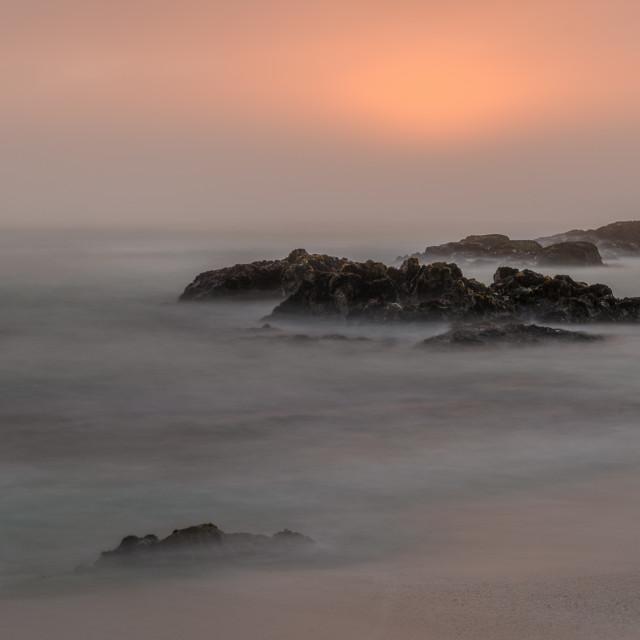 """Sunset Through the Mist"" stock image"