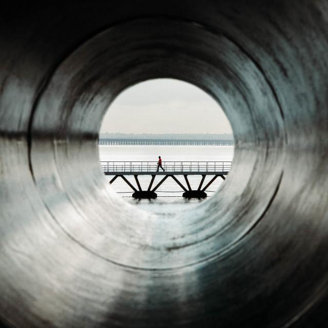 """""""Through the barrel of a gun - stock photo"""" stock image"""