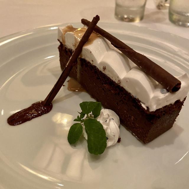 """""""Irish coffee cream torte"""" stock image"""