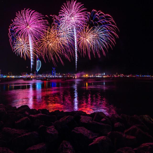 """Fireworks at Portsmouth"" stock image"
