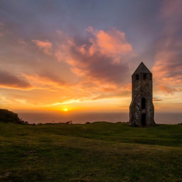 """St Catherines Oatory Isle of Wight"" stock image"