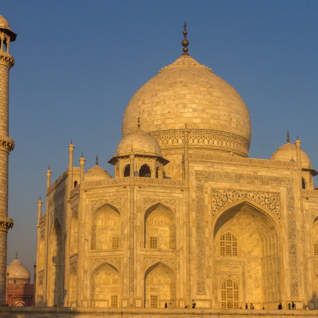 """Golden Taj Mahal"" stock image"
