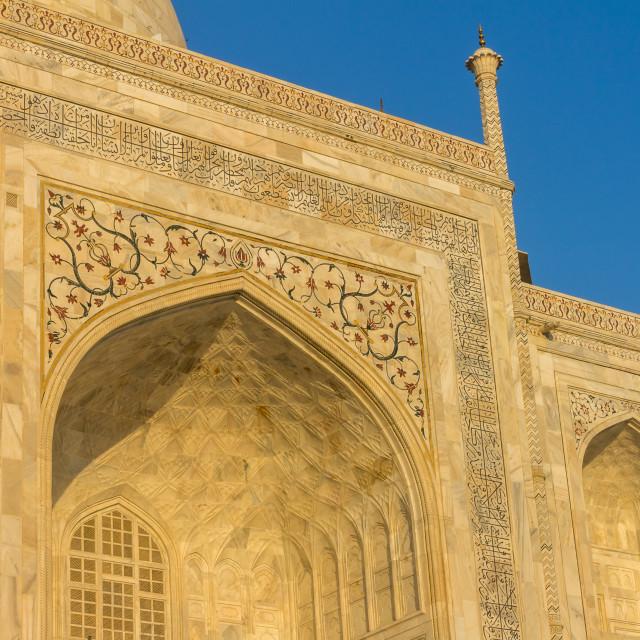 """Golden Taj Mahal"" stock image"