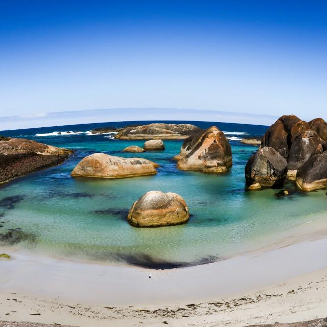"""Elephant Rocks, South West Australia."" stock image"