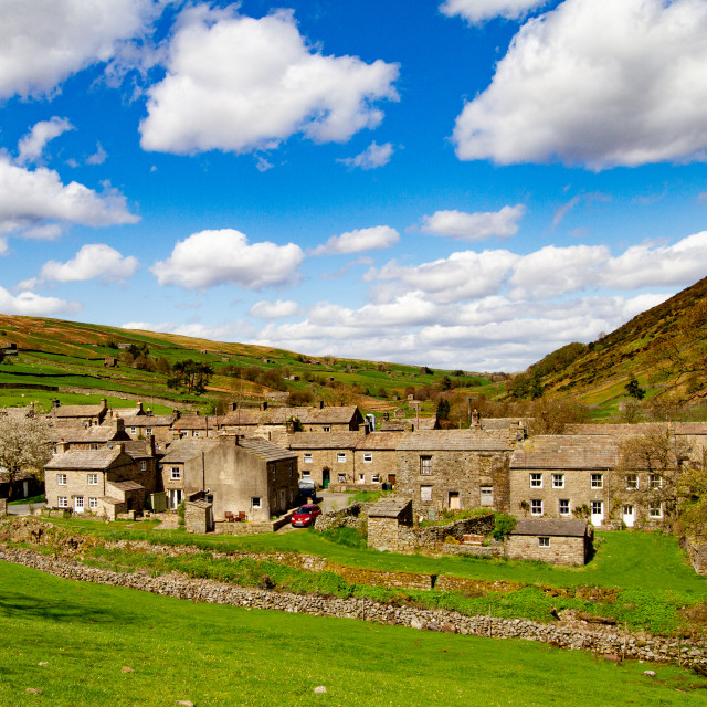 """""""Thwaite , a Small Village in the Yorkshire Dales."""" stock image"""