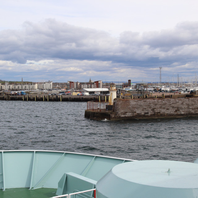 """Approaching Ardrossan on the Arran ferry"" stock image"