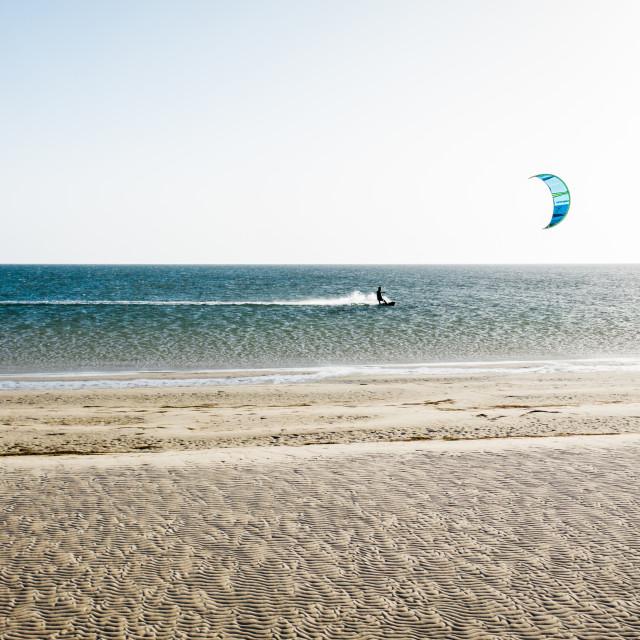 """""""Kiteboarding in Dakhla"""" stock image"""