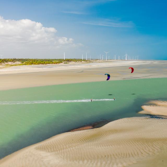 """""""Kiteboarding Brazil"""" stock image"""