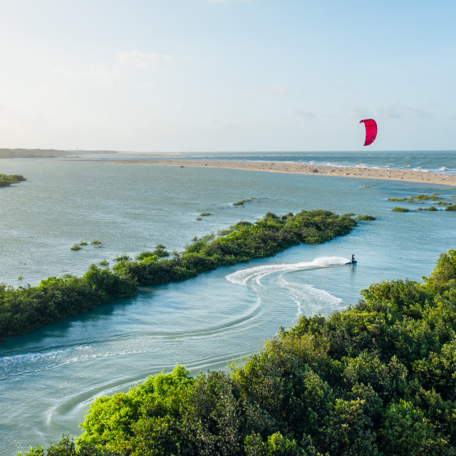 """Kiteboarding in Brazil"" stock image"