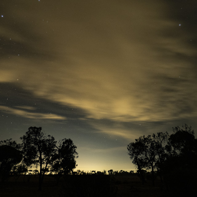 """""""Southern Cross in the Southern Sky"""" stock image"""