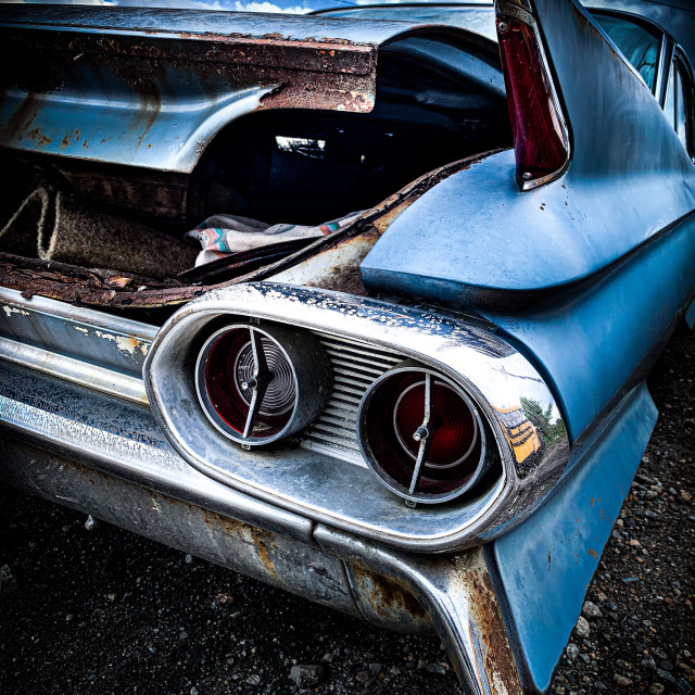 """61 caddie coupe deville"" stock image"