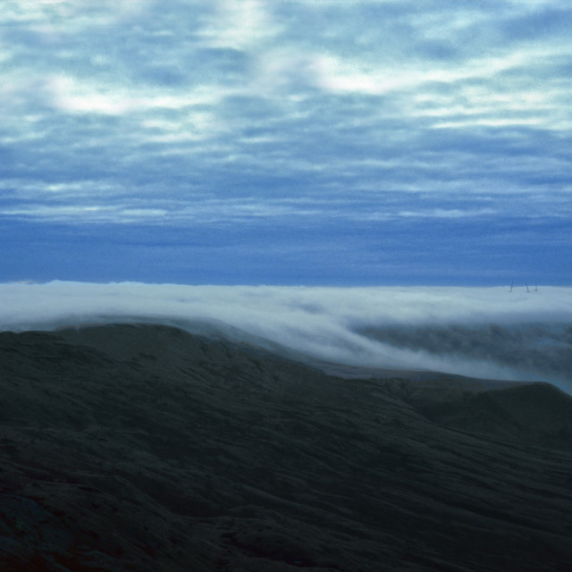 """Between Earth & Sky, Calderdale Mist"" stock image"