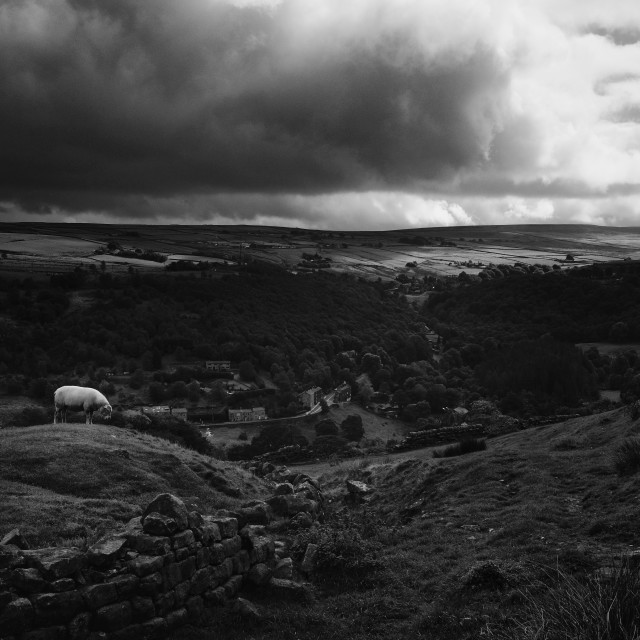 """""""Coiners View, descent into Cragg Vale"""" stock image"""