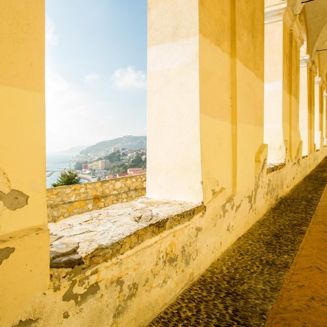 """Monastero Santa Chiara Cloisters"" stock image"