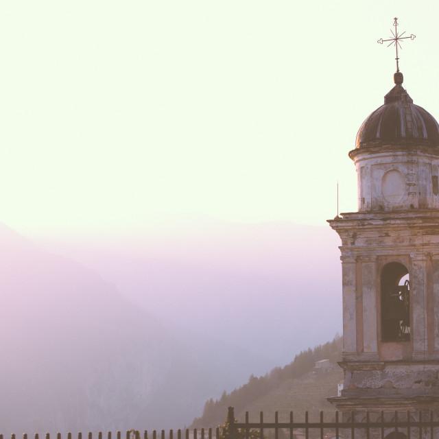 """Collegiate Church AT Sunset"" stock image"