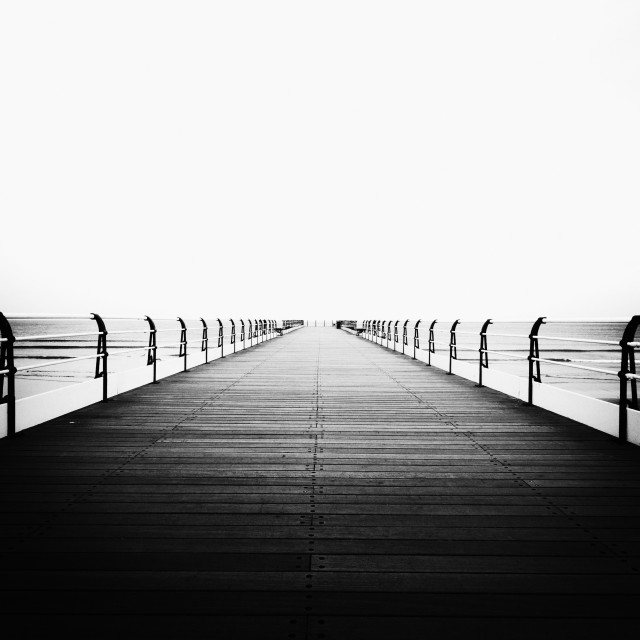 """Saltburn Pier, Victorian."" stock image"