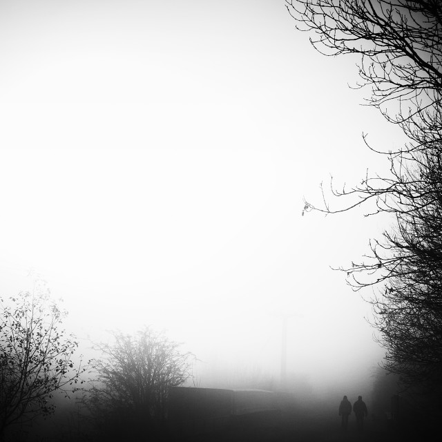 """Fog Walkers"" stock image"