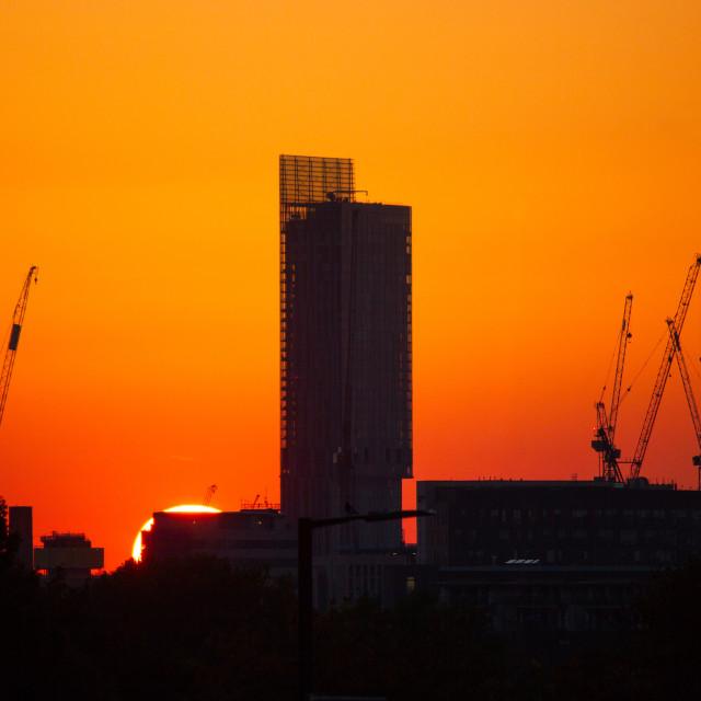 """""""Beetham Sunset"""" stock image"""