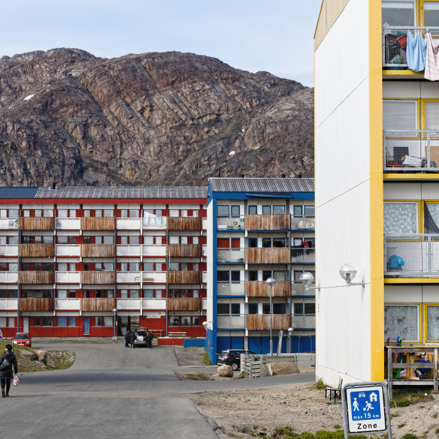 """""""Sisimiut Residential Area"""" stock image"""