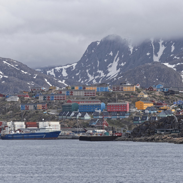 """""""Sisimiut Commercial Harbour"""" stock image"""