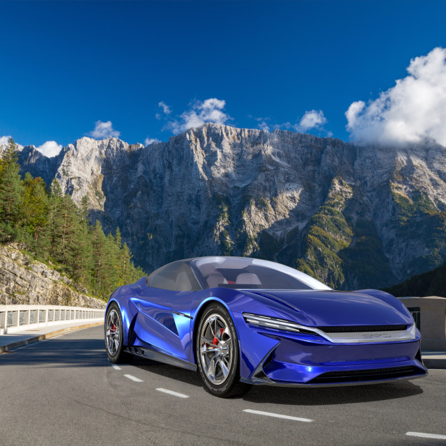 """BYD Supercar E-SEED GT, electric supercar from China"" stock image"