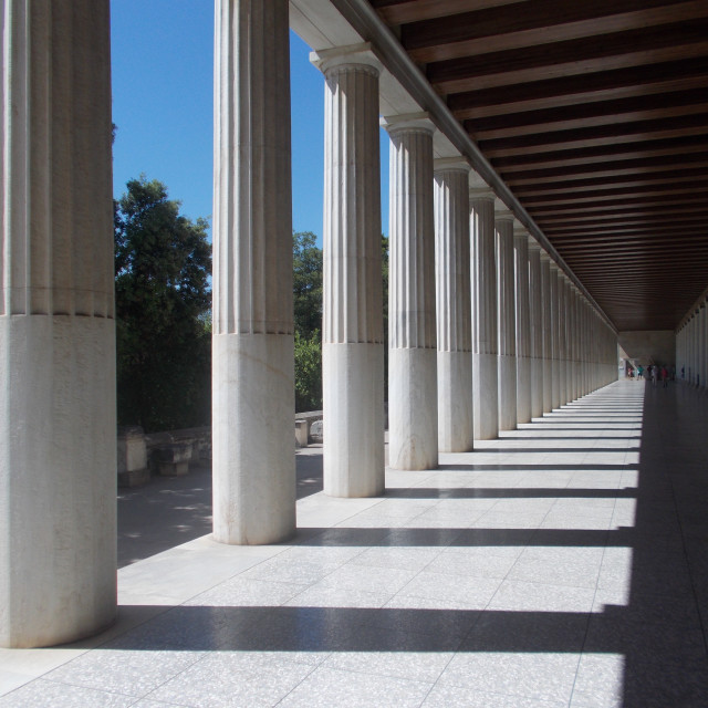 """Acropolis Columns"" stock image"