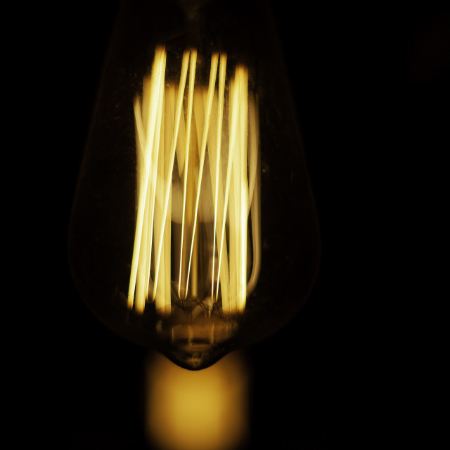 """vintage lightbulb"" stock image"