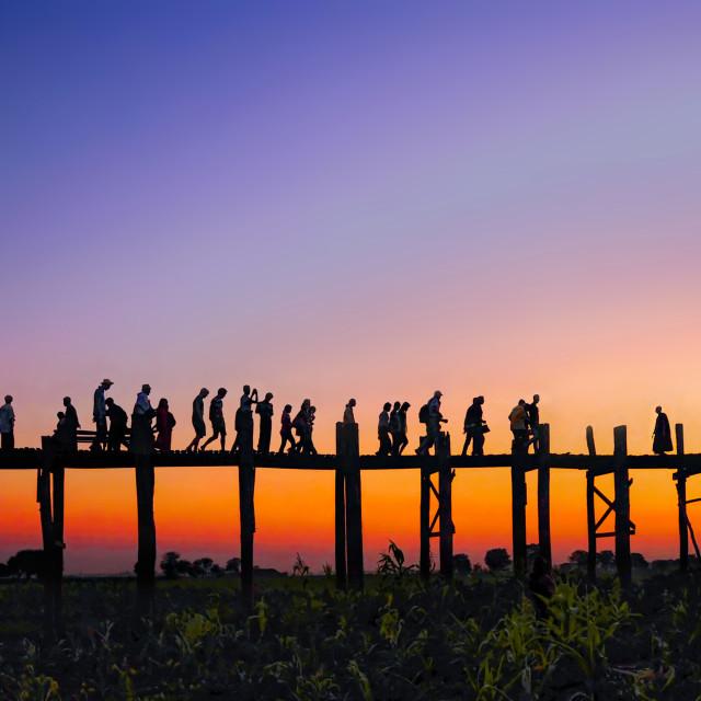 """U Bien Bridge 05"" stock image"