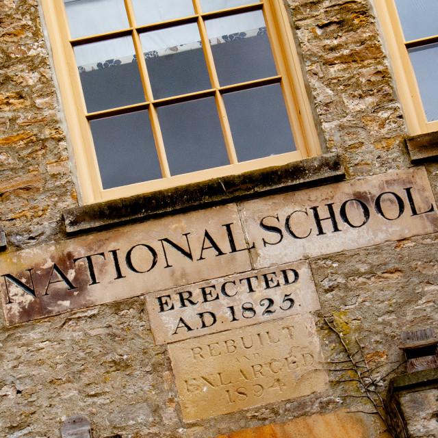 """National School, Richmond, North Yorkshire"" stock image"