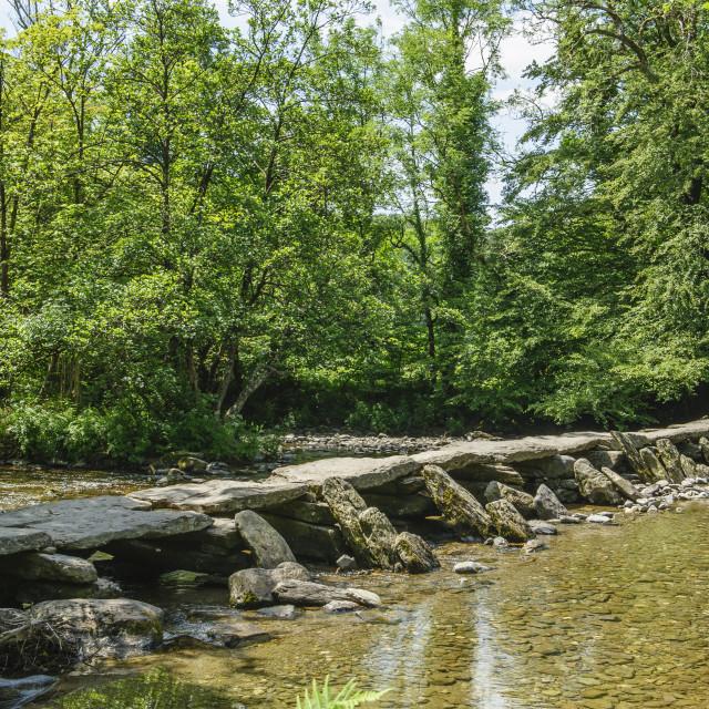 """Tarr Steps, Exmoor."" stock image"