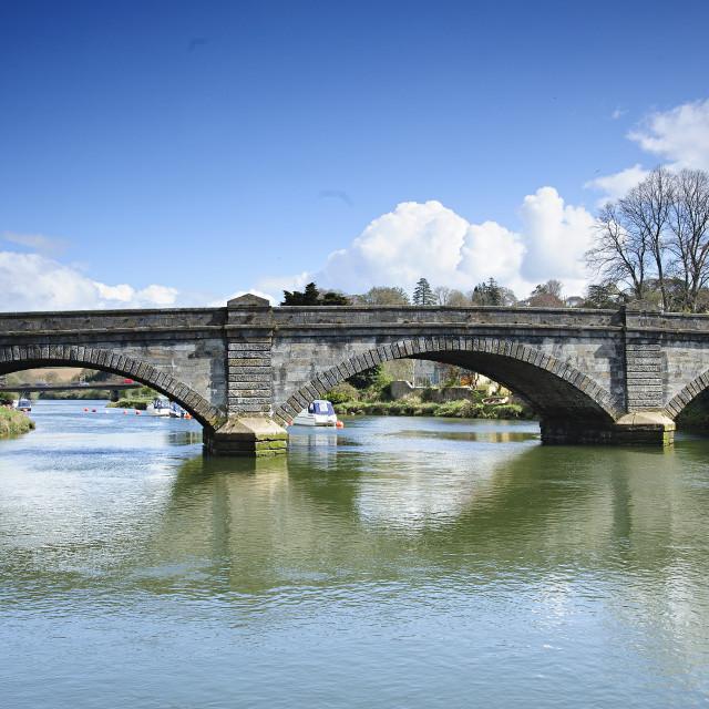 """Totnes Bridge, Devon"" stock image"