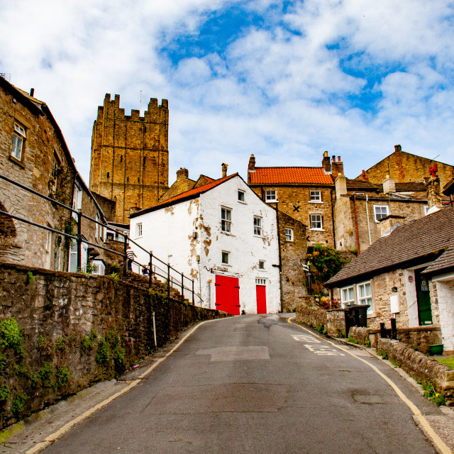 """Richmond Castle Keep, North Yorkshire."" stock image"