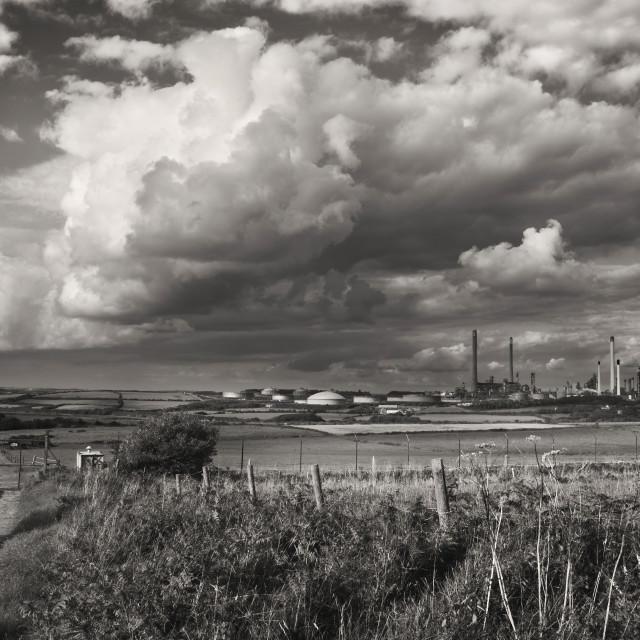 """""""Valero Oil Refinery, Pembroke"""" stock image"""