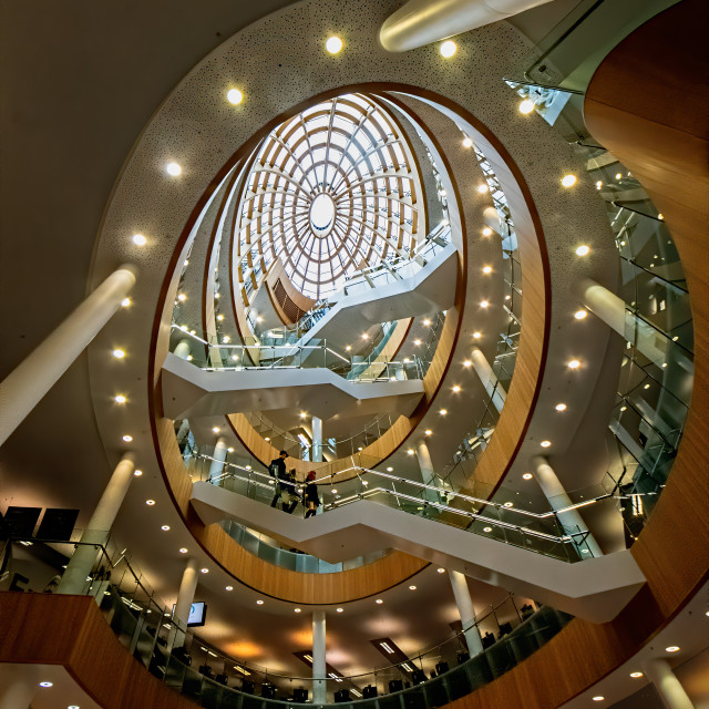 """""""Interior, Staircase, Liverpool Central Library"""" stock image"""