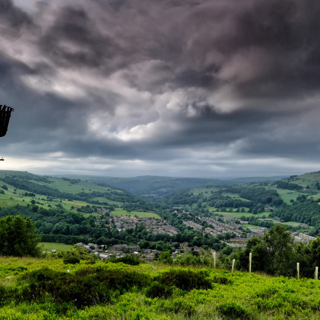 """""""Calder Valley from Scout Rock"""" stock image"""