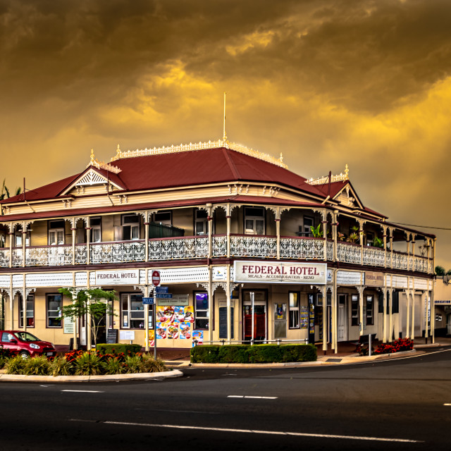 """""""Country Town Hotels"""" stock image"""